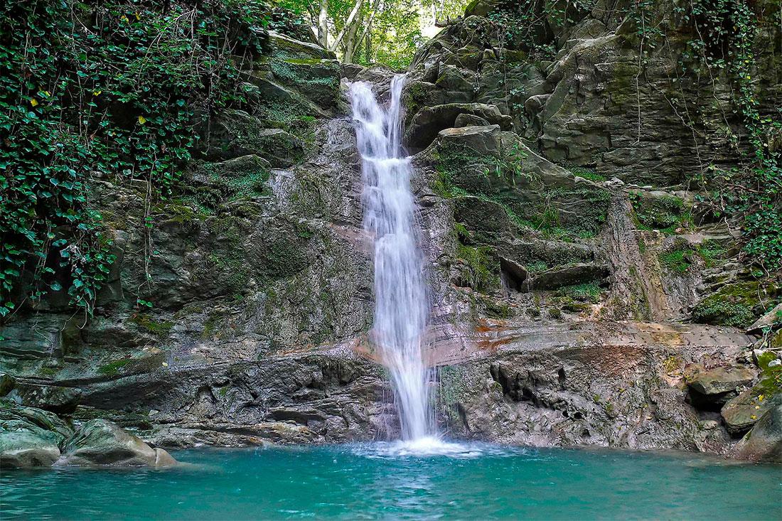 Водопады на реке Дедеркой (Туапсе)