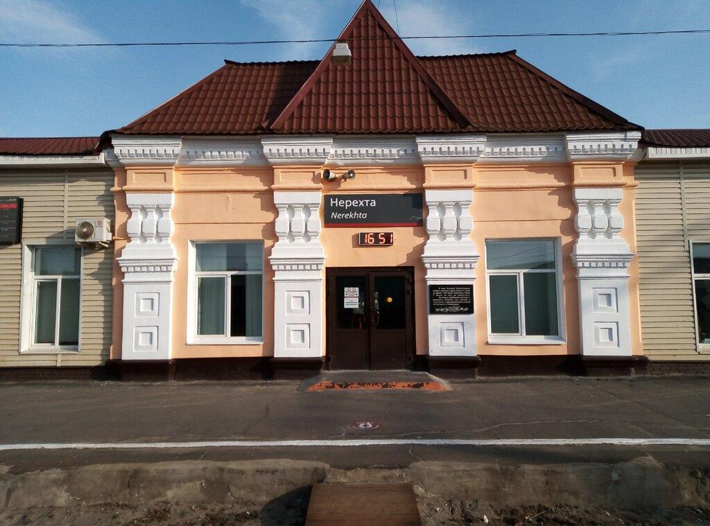 Железнодорожный вокзал и автостанция «Нерехта» (Нерехта)