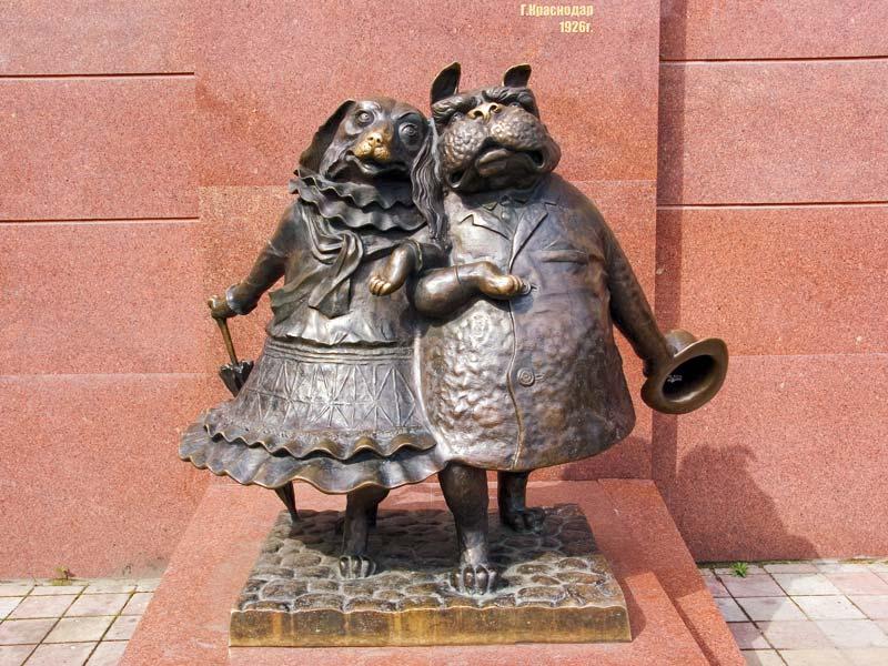Памятник влюбленным собачкам (Краснодар)
