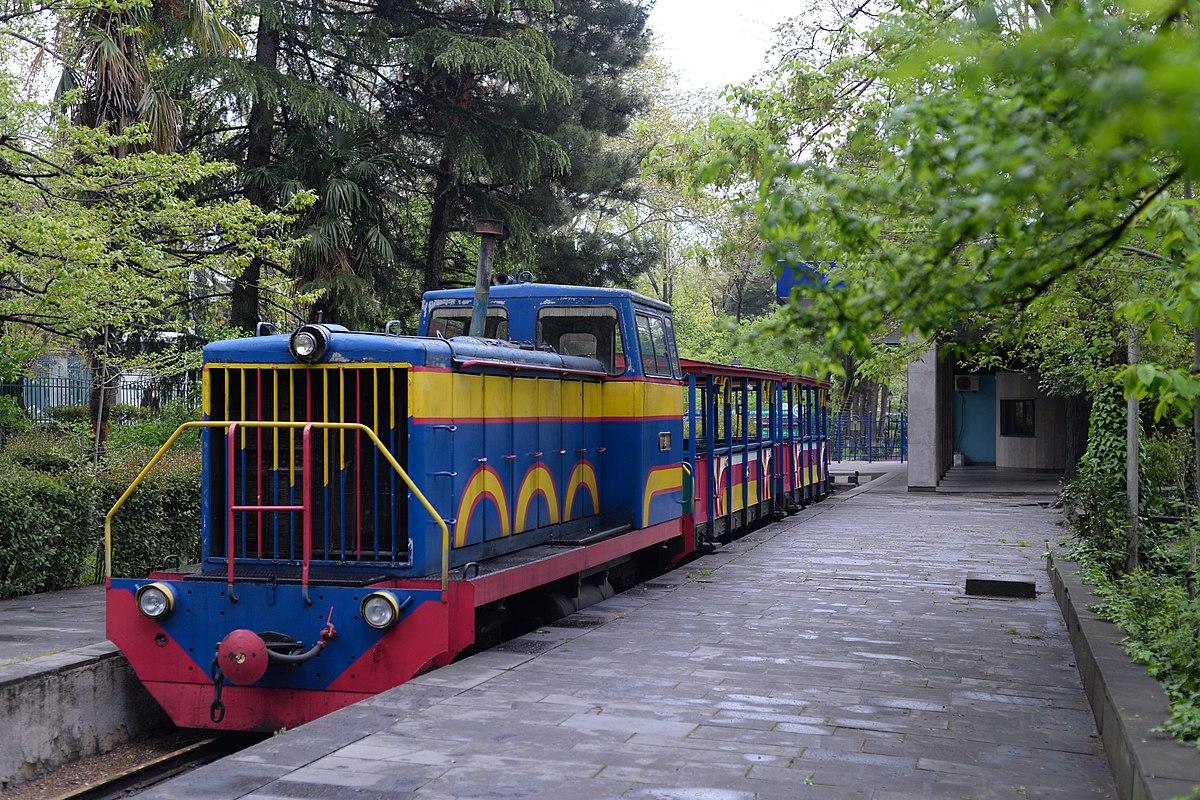 Детская железная дорога в парке Муштаиди (Тбилиси)