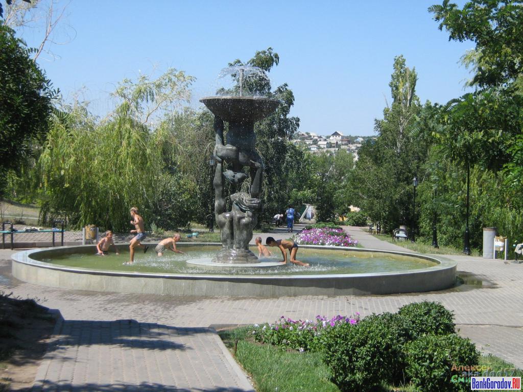 Фонтан в парке стеклотарного завода (Камышин)
