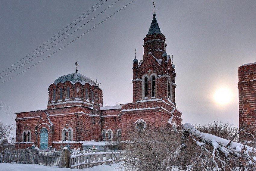 Успенская церковь в Ловецких Борках (Луховицы)