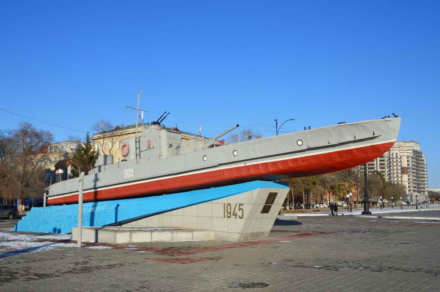 Памятник морякам (катер) (Благовещенск)