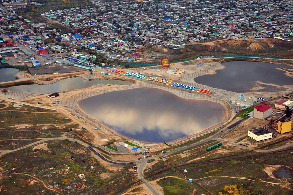 Солёное озеро Развал (Соль-Илецк)