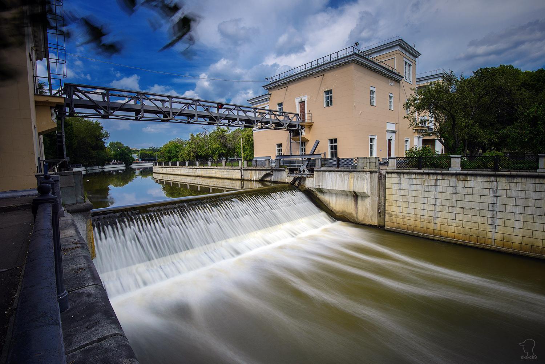 Сыромятнический гидроузел на Яузе (Москва)