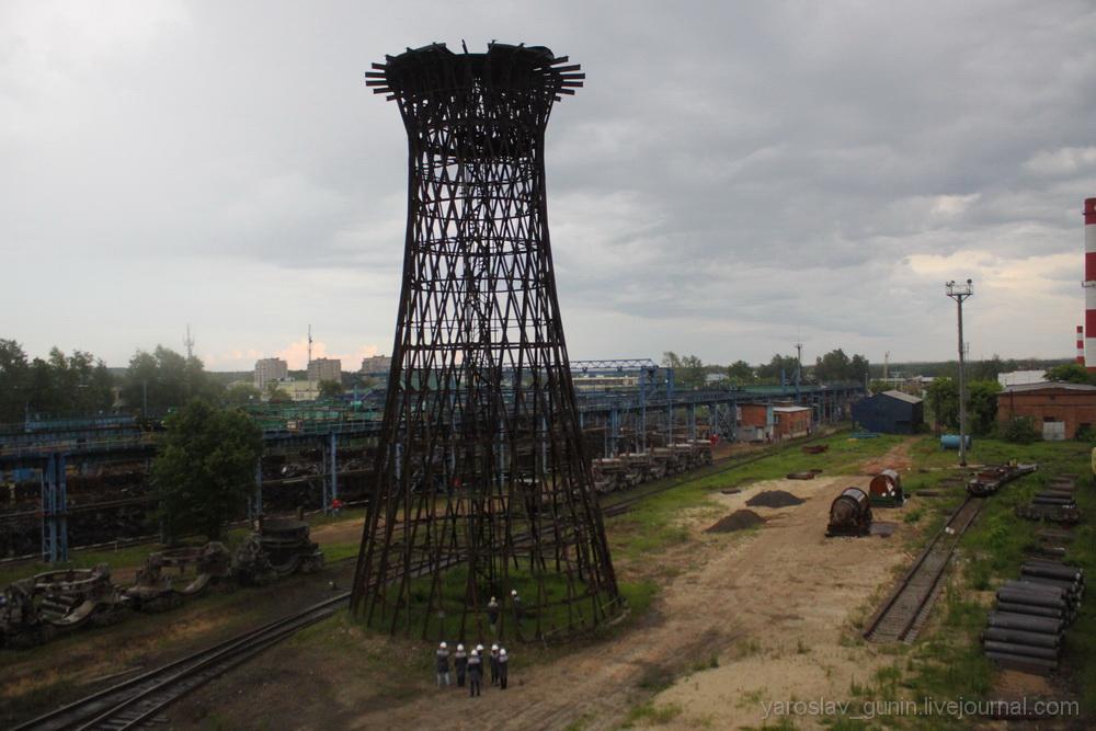 Шуховской пролет и водонапорная башня (Выкса)